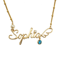 SHIQING 14K gold cover alloy never faded high quality custom necklace, customize necklace, name necklace for love
