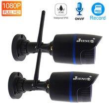 Jienuo ip камера беспроводная 1080p Аудио hd cctv охранное наблюдение