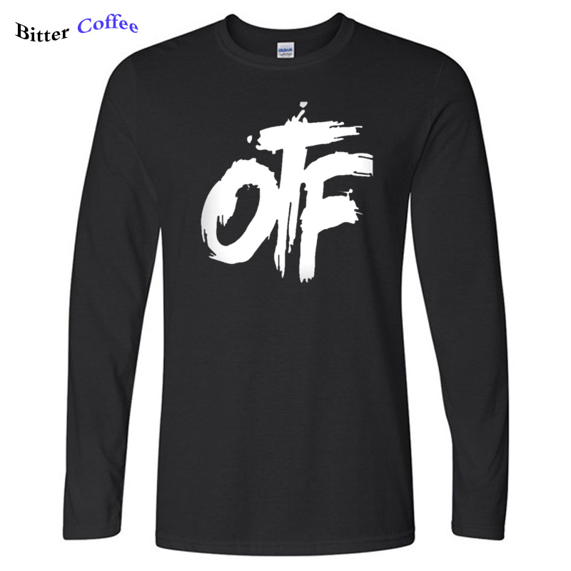 Autumn NEW Otf Tee Shirt Lil Durk OTF T Shirt Men Letter Print Long Sleeve Cotton T-Shirt Casual Male Funny TShirts Plus Size