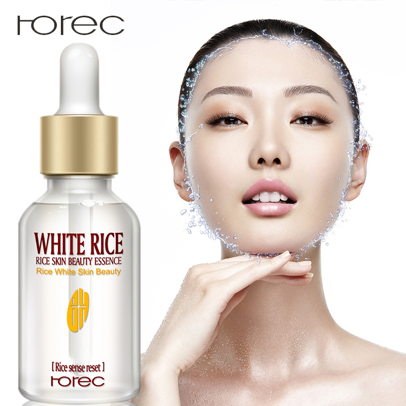 ROREC Collagen White Rice Face Serum Hyaluronic Acid Essence Shrink Pore Moisturizing Oil Control Anti-Wrinkle Lighten Skin Care