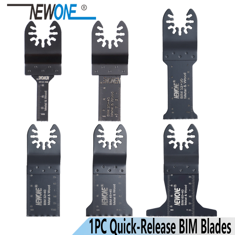 NEWONE Quick-Release 10/20/32/45/65mm Bi-metal Oscillating MultiTool Renovator Saw Blades BIM Blades Power Tool Accessories