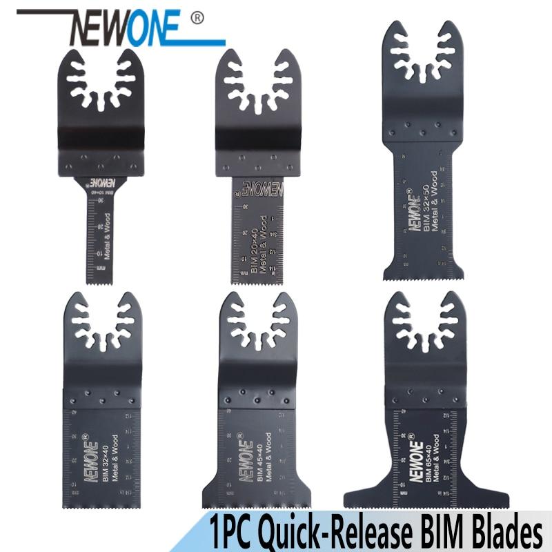 NEWONE Quick-Release 10/20/32/45/65mm Bi-metal Oscillating MultiTool Renovator Saw Blades BIM Blades Power Tool Accessories
