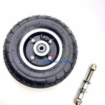 free shipping 200x50 Electric Scooter Tyre WheelCenter axisHub 8 Scooter Tyre Aluminium Alloy Wheel Pneumatic Tire Electric electric scooter snow tire ice tyre for xiaomi m365 m365 pro scooter non pneumatic solid tire shock absorber non slip tyre