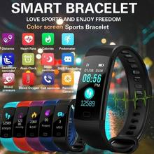 Y5 Bluetooth Smart Bracelet Color Screen Smartband Heart Rate Monitor Blood Pressure Measurement Fitness Tracker Smart Watch(China)