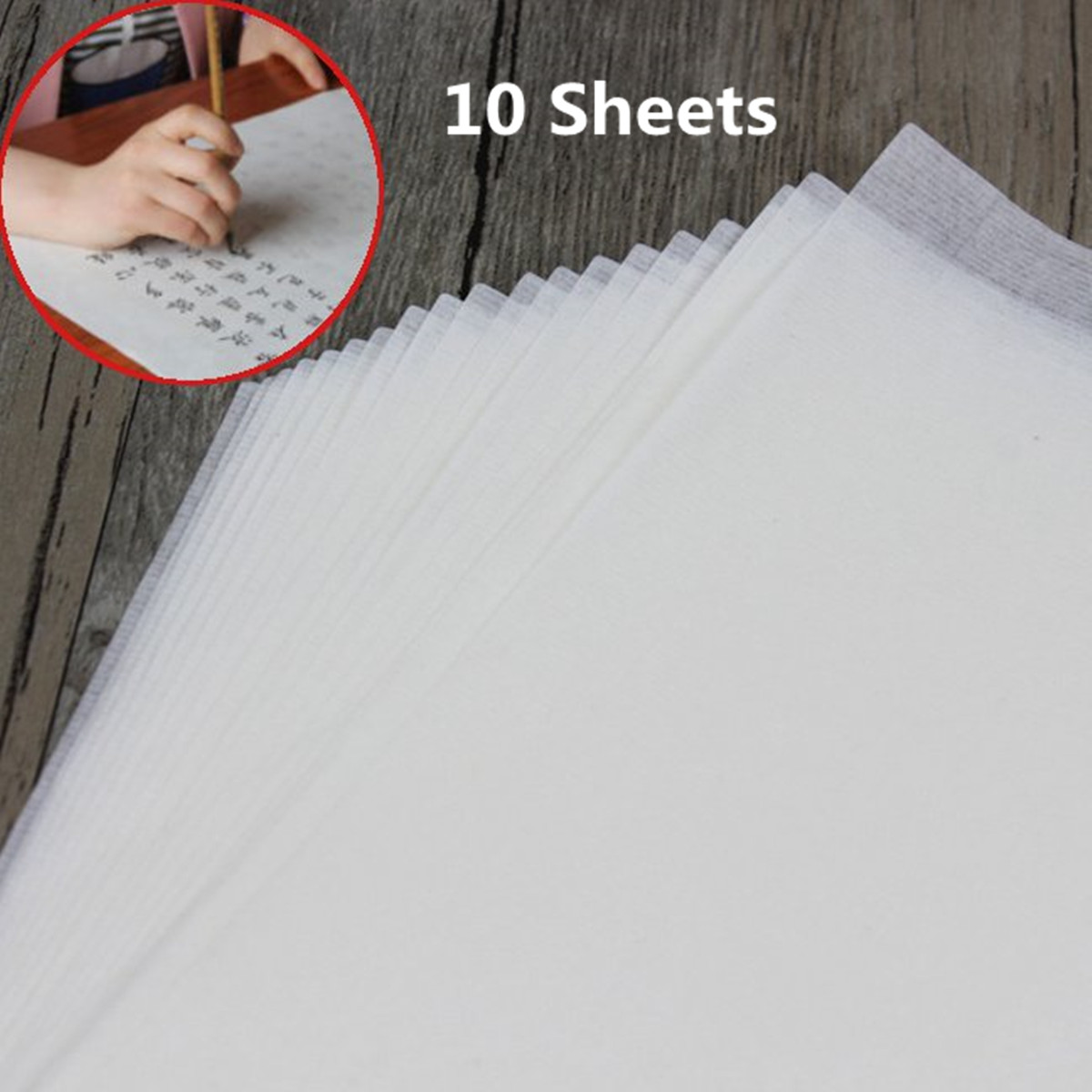 10 Sheets Chinese Calligraphy Painting Rice Xuan Paper White Painting Paper Printing Rice Paper Calligraphy Supplies 32x22cm
