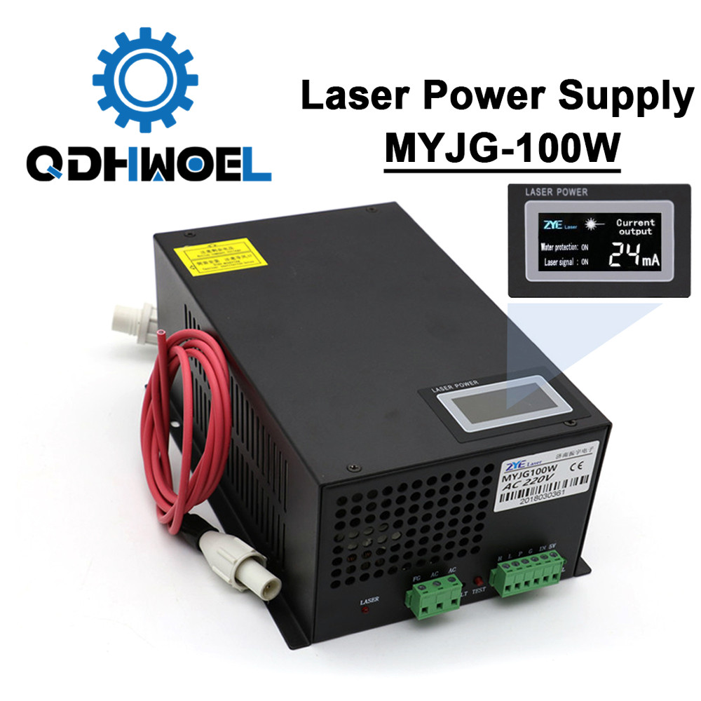 100w Co2 Laser Power Supply MYJG-100 LED For Co2 Engraving Cutting Machine Laser Tube