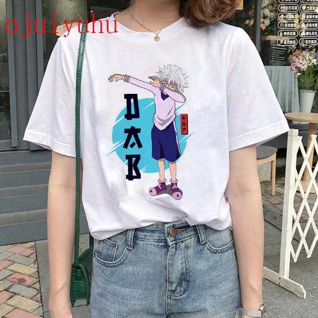 Hunter X Hunter T Shirt women Kawaii Cartoon Killua Hisoka Graphic Tees Japanese Anime Harajuku T-shirt Unisex Tops Tshirt 4