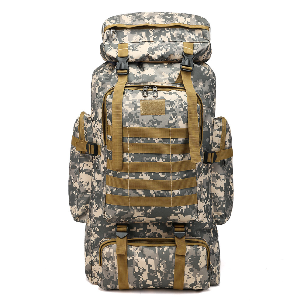 Cross Border For Backpack Large Capacity 80L Backpack Camouflage Outdoor Backpack Travel Mountaineering Bag