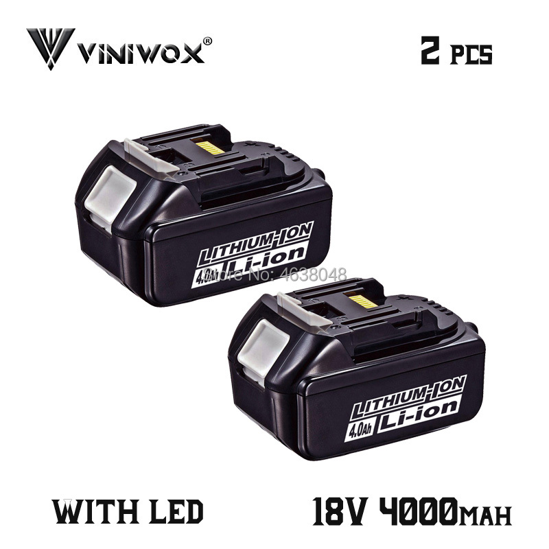 BL1840 18V 4000mAh Replacement Lithium Ion Battery for <font><b>Makita</b></font> BL1830 BL1850B BL1840B <font><b>BL1820</b></font> LXT400 Rechargeable Battery Packs image