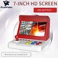 Powkiddy a9plus jogo console de vídeo clássico retro jogador 7.0 polegadas tela hd com 3000 jogos com dois gamepads mecânica