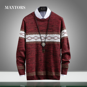 New Autumn Brand Mens Casual Sweater O-Neck Slim Fit Knitting Men Solid Splice Sweaters Pullovers Thick Warm Streetwear Clothing