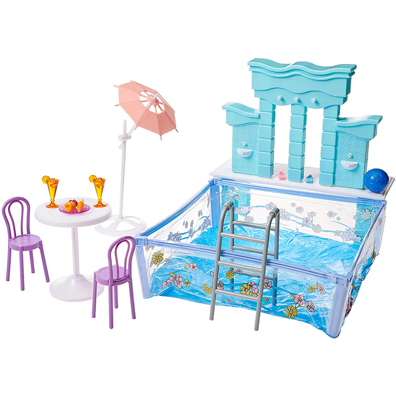 New Arrival Waterpark Play Set Accessories <font><b>for</b></font> Barbie <font><b>Water</b></font> Spray Function DIY Model <font><b>Toys</b></font> <font><b>for</b></font> <font><b>Children</b></font> image