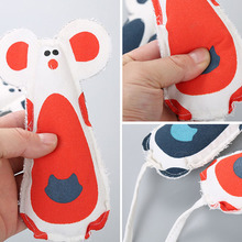 4pcs Pet Cat Toy Mouse Canvas Sound Toy  Funny Training Cat Toy Catnip Squeaky Pet Chew Interactive Toy Pet Supplies red legged mouse pet cat toy multicolored