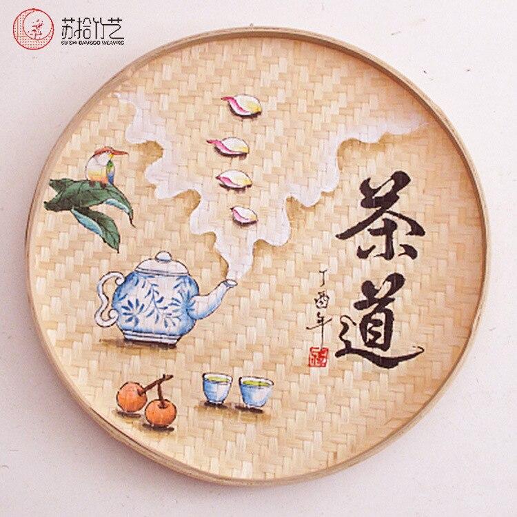 Картина бамбуковое сито Совок чайный лист сухое сито на воздухе zhu yuan pan zhu kuang zi