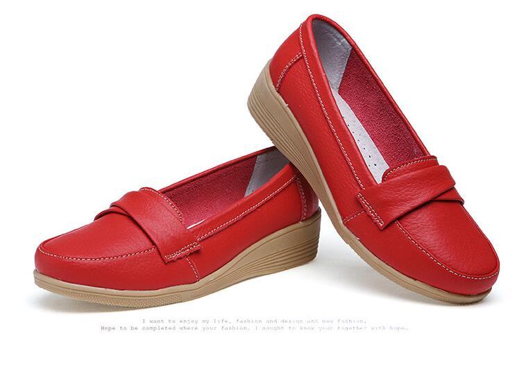 Nuevos Zapatos planos De las mujeres Zapatos 2020 Zapatos Oxford De moda para las mujeres De cuero suave Zapatos De caminar para Mujer mocasines Zapatos De Mujer KYSZDL gran oferta de alta calidad Natural granate pulsera moda mujer cristal pulsera joyería regalos