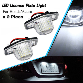2pcs/lot LED car number License Plate Light lamp for Honda Accord Civic City MK4 MR-V Pilot Odyssey for Acura MDX RL TL TSX ILX image