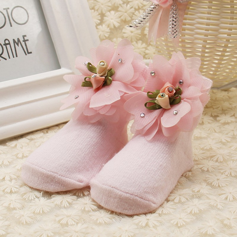Newborn Baby Socks Cotton Baby Girls Sock Toddler Socks Princess Party Shoes Socks
