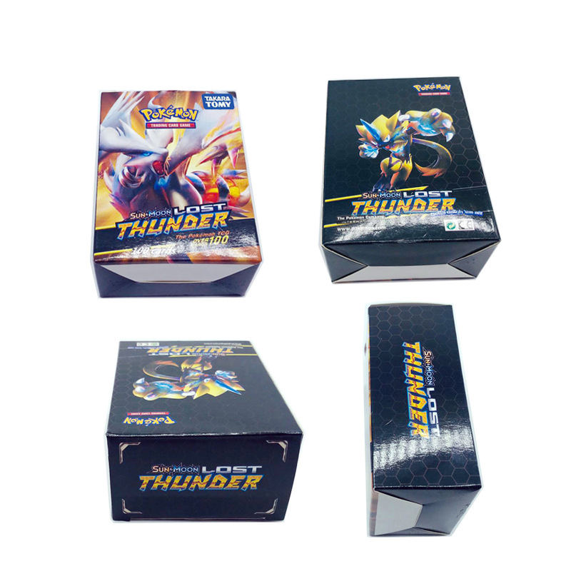 Tomy Pokemon 100PCS GX EX MEGA Cover Flash Card 3D Version Lost Thunder Card Collectible Children Toy Gifts