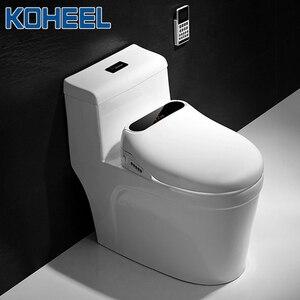 Image 5 - KOHEEL Led anzeige Smart Wc Sitz Elektrische Bidet Doppel Düse Abdeckung Intelligente Beheizten Waschen Trockenen Massage Smart Wc Deckel
