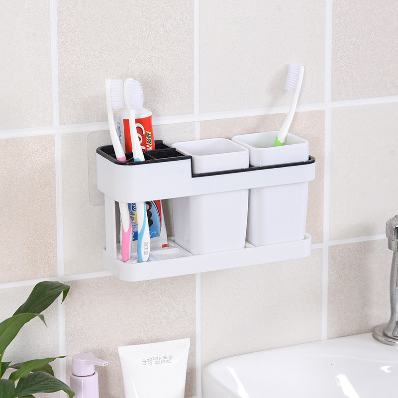 Bathroom Accessories Electric Toothbrush Holder Stand Set Shelf Bathroom Toothpaste Storage Rack Pro Home Коврик Для Ванной 40 image