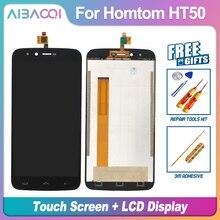 Garantía de 100% AiBaoQi pantalla táctil de 5,5 pulgadas + 1280X720 reemplazo de montaje para pantalla LCD para Homtom HT50