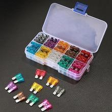 Surtido de fusibles de tamaño pequeño para coche y camión, kit de fusibles de tamaño 100/50/3/2,5. 5/10/15/20/25/30/35A con Clip de caja, 5/7 Uds.