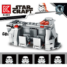 Star Wars Series Building Blocks Storm Trooper Transport Aircraft with White Soldier Mini Figure Weapons Small Bricks Kids Toys(China)