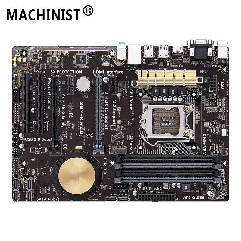 Original For ASUS Z97-K R2.0 Desktop motherboard MB Z97 LGA 1150 ATX DDR3 32GB PCI-E 3.0 USB3.0 SATA3.0 100% fully Tested 6