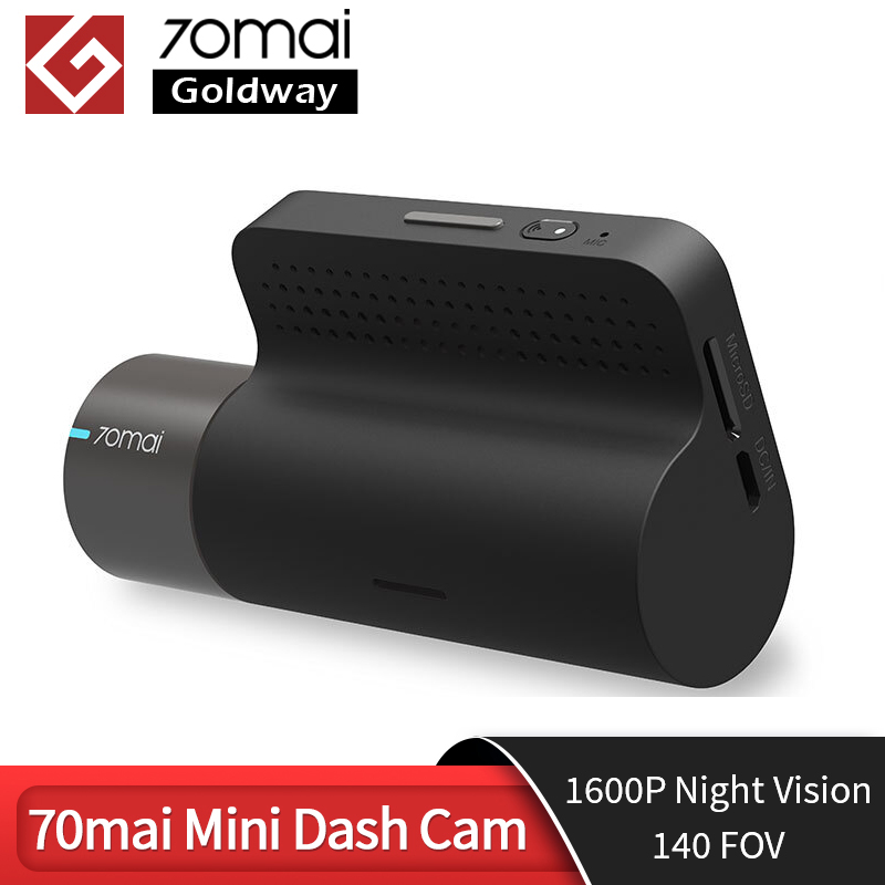 Original 70mai mini traço cam 70 mai mini gravador de câmera do carro 140 fov 1600p visão noturna wifi mini carro dvr app controle multi dvr