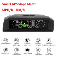 AUTOOL On board Computer HUD Display Car GPS Speedometer Slope Meter Inclinometer Compass Battery Voltage Car Electronics