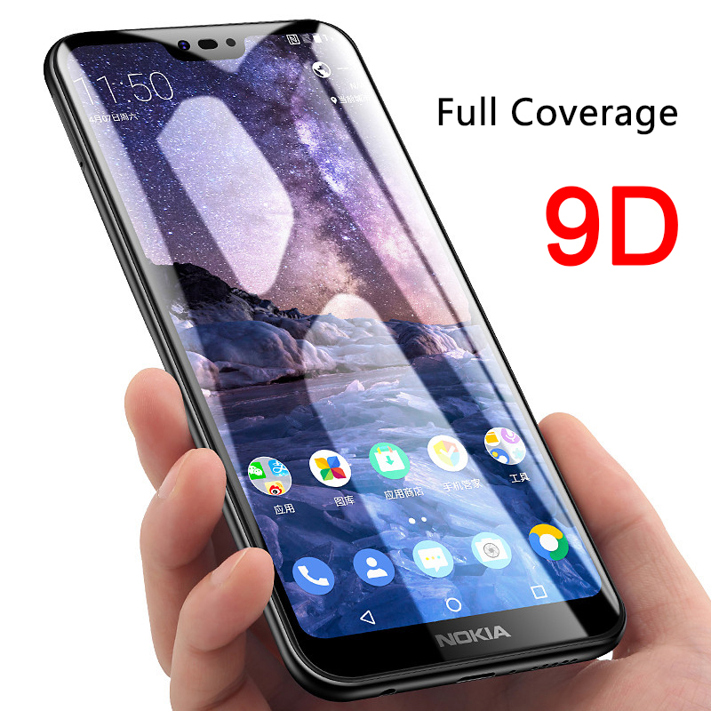 9D Coverage Full Coverage All Glue Protective Glass For Nokia 1 Plus 2 2.1 3 3.1 3.2 Tempered Glass For Nokia 4.2 5 5.1 Plus