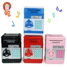 Alcancía electrónica para niños y adultos, caja fuerte para ahorro de dinero, juguetes de banco, depósito de monedas Digital, Mini máquina ATM, regalos de navidad