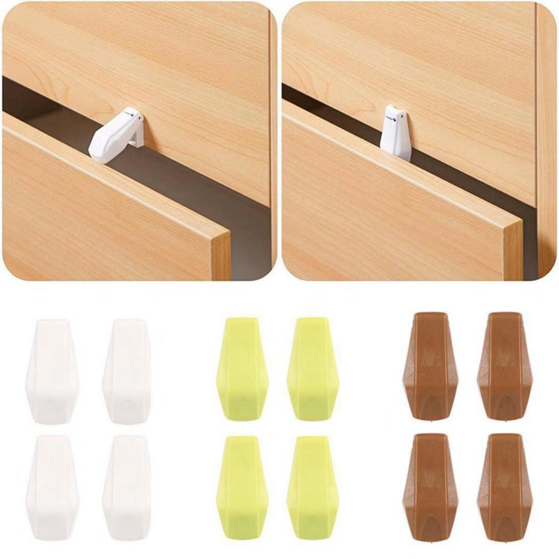 4pc Durable Drawer Locking Protection Avoid Child Finger Injury Tool