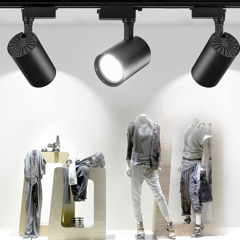 Super Bright Track Lights 20W 30W 40W 220V COB LED Track Light Lamp Spotlights Commercial Lighting Home Living Room Cloth Store