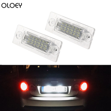 цена на 2X18LED Car Number License Plate Light Lamp No Error Canbus for VW Golf Passat Candy T5 Jetta/Syncro Touran Transporter
