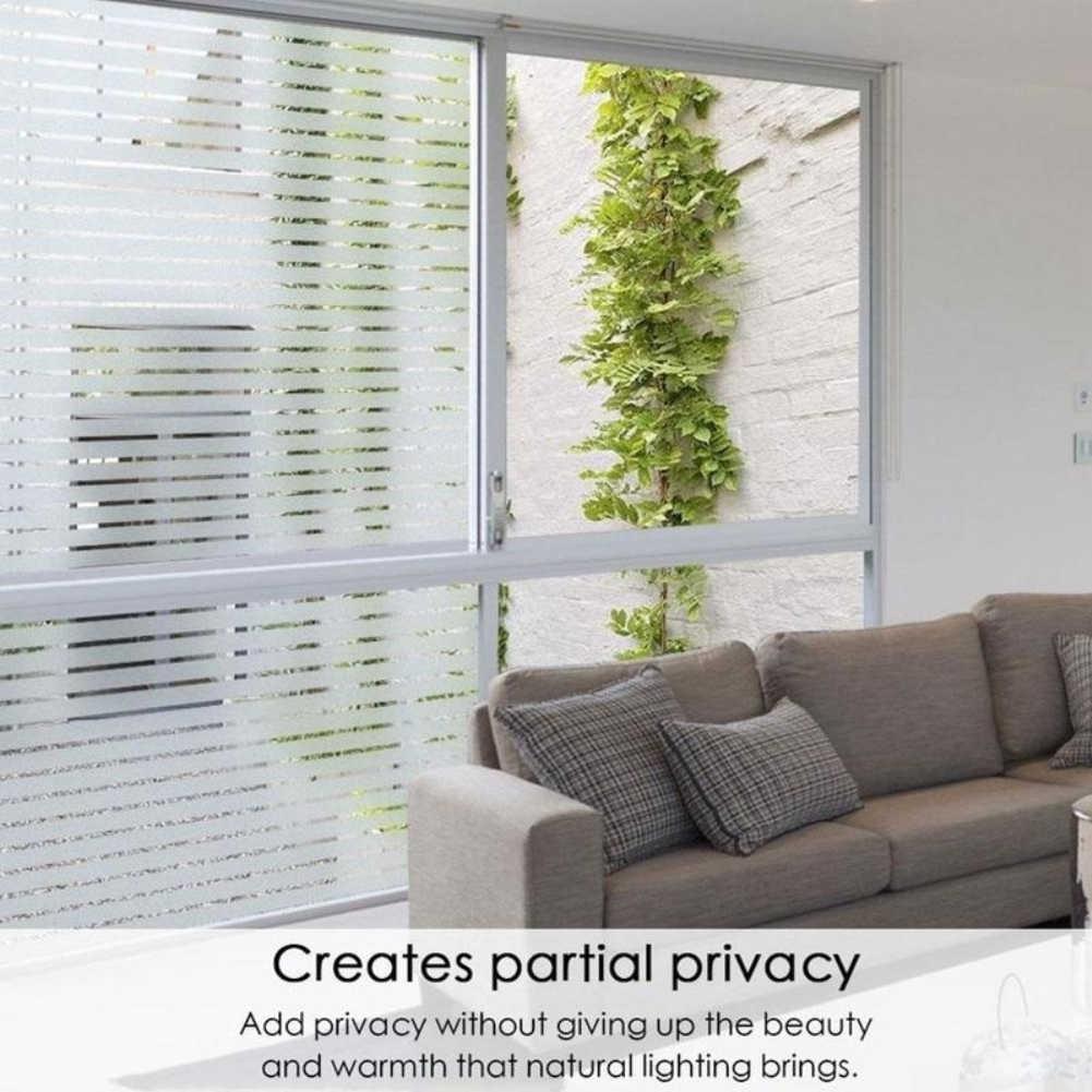 Di vetro statica sticker ufficio della banda finestra di vetro pellicola porta scorrevole adesivi autoadesivo della finestra di luce trasparente opaco isolamento