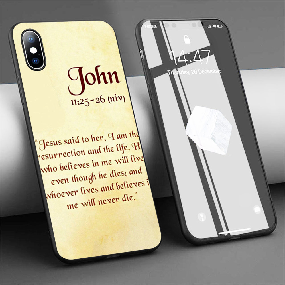 Coque Jesus Christ Cross Soft Silicone Phone Case for iPhone 11 Pro Max X 5S 6 6S XR XS Max 7 8 Plus Case Phone Cover