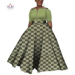 2019 Dashiki Africano Abiti per Le Donne Colorful Quotidiano Cerimonia Nuziale di Formato S-6XL Abiti Africani per Le Donne Caviglia-Lunghezza Del Vestito WY3853