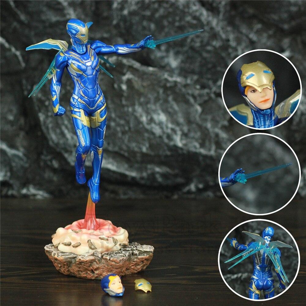 Captain Marvel & Iron Man Ruscue 1/10 Statue Figure Carol Danvers Studios Toys Avenger 4 Endgame Spuer Heroine Hero Movie Doll