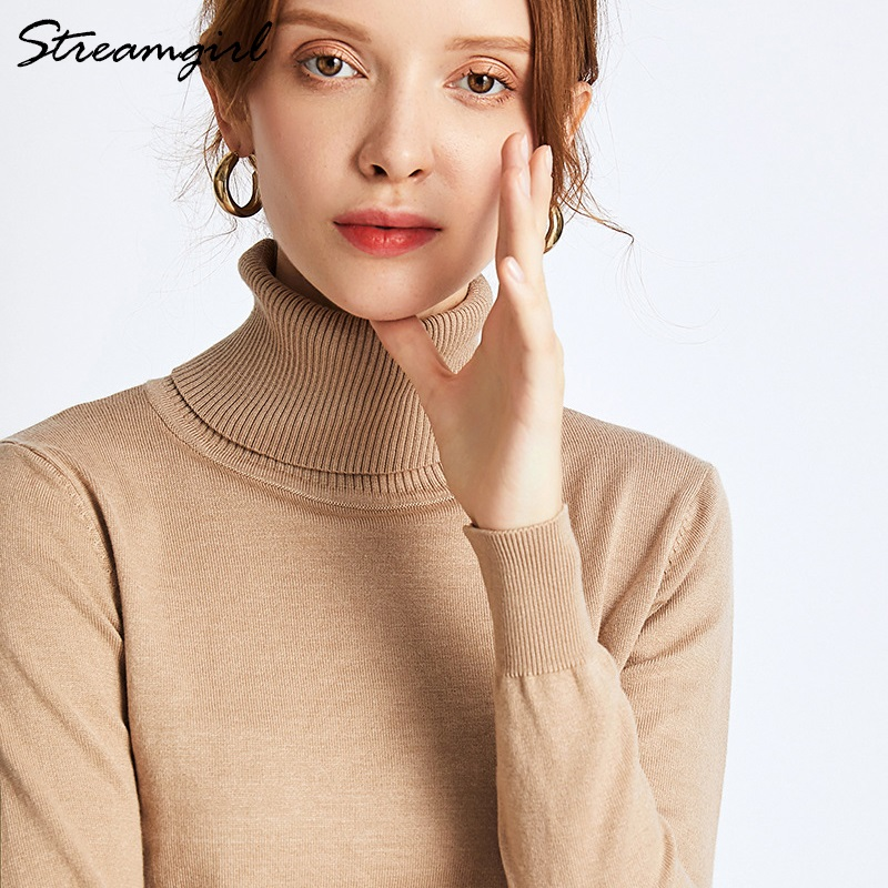 Turtle Neck Sweater For Women Winter Pull Femme Hiver Ladies Sweater For Winter Knit Jumper Women 2019 Woman Sweaters Pullovers