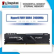 Kingston-memoria ram HyperX FURY DDR4 para juegos, 2400MHz, 8g, 2666MHz, 16g, 3200MHz, 32g, DIMM, 288 Pines, para escritorio