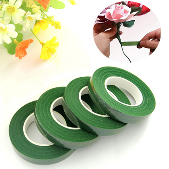 1pcs 12mm Self-adhesive Bouquet Floral Stem Tape Artificial Flower Wrapping Florist Green Tapes DIY Flower Supplies home decor image