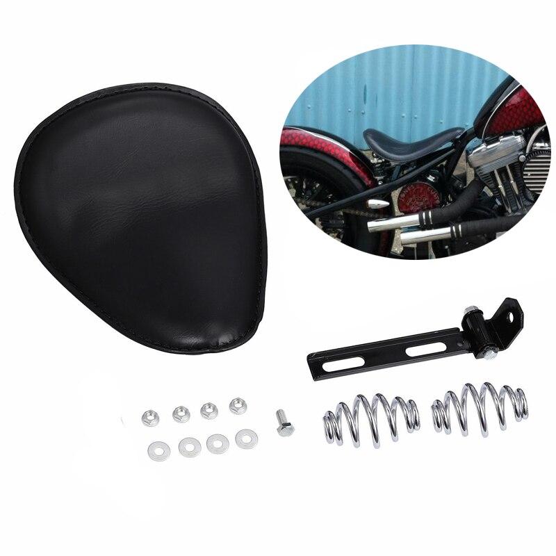 """3/"""" Motorcycle Sportster Chopper Bobber Custom SOLO Golden Spring Bracket Seat"""