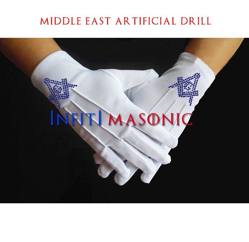 Freemasonry High Quality Customized Hot Repair Rhinestone Transfer Gloves Personalized Design Personal Customized