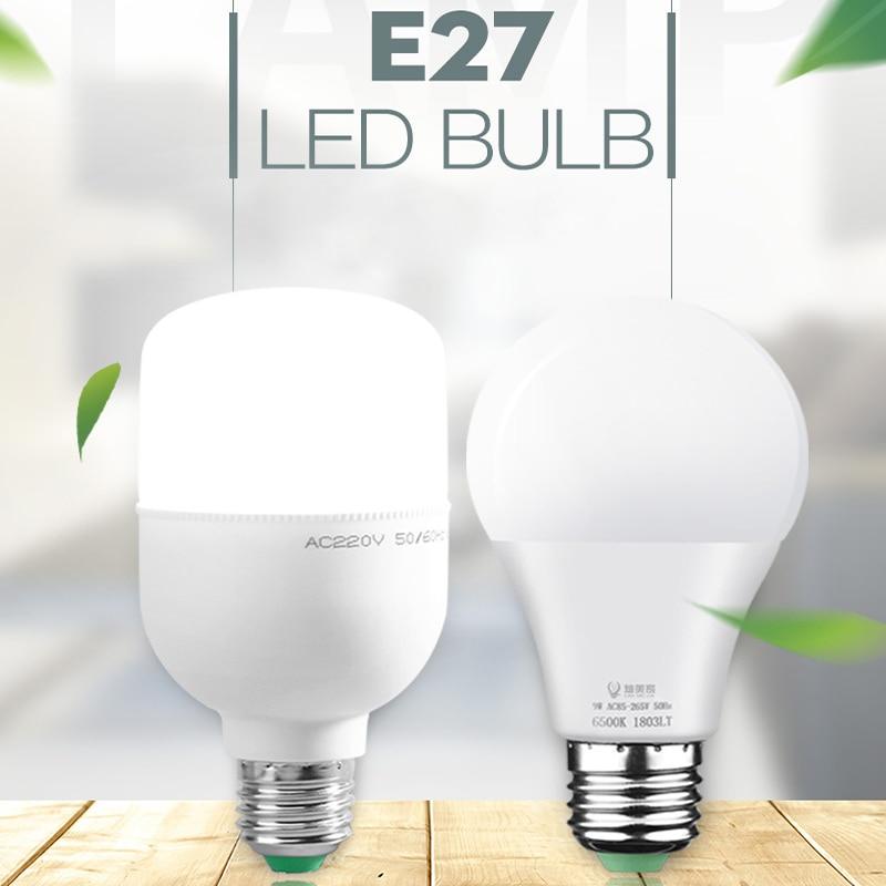 Led Lamp E27 LED Bulb AC 220V 110V Bombillas Leds Light 5w 12w 15w 18w 20w 30w 40w 50w Ampoule Spotlight for Indoor Home Kitchen