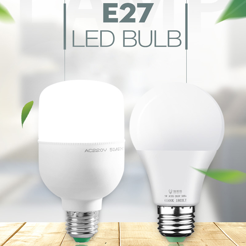 <font><b>Led</b></font> <font><b>Lamp</b></font> E27 <font><b>LED</b></font> Bulb AC 220V 110V Bombillas <font><b>Leds</b></font> Light 5w 12w 15w 18w 20w <font><b>30w</b></font> 40w 50w Ampoule Spotlight for Indoor Home Kitchen image