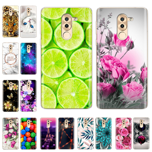 Silicone Cover For Huawei Honor 6X Case Cute Cat Flower TPU Phone Case For Huawei Honor 6X Honor6x 6 X Back Coque Bumper fundas(China)