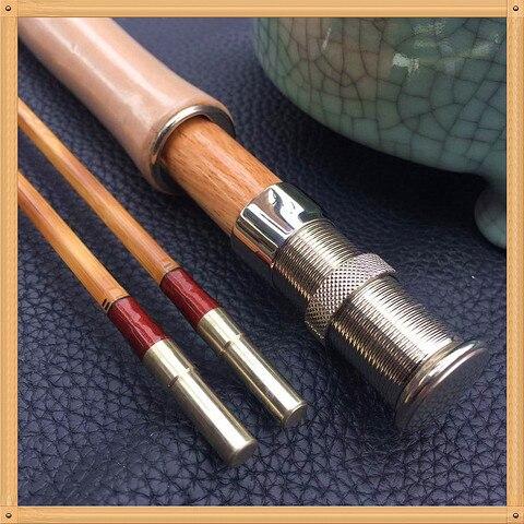zhusrods chama classica artesanal vara de mosca de bambu 76 6