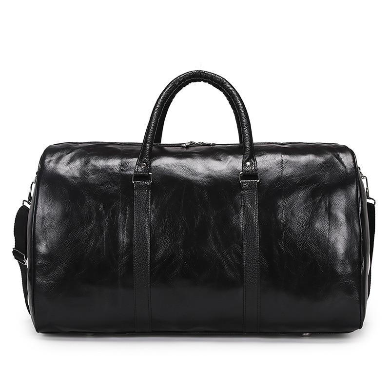 New Arrival Leather Travel Bags Luxury Men Large Capacity Portable Male Shoulder Bags Men's Handbags Vintage Travel Duffle Hot