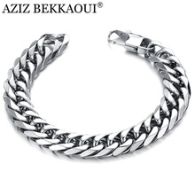 Bracelet Chain-Link Charm Gift Stainless-Steel Magnetic Personality Men AZIZ BEKKAOUI